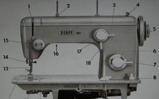 Pfaff 260 onderdelen