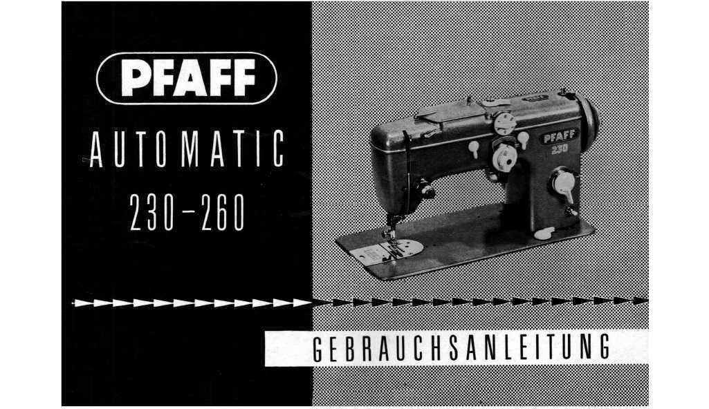Pfaff 262 Nähmaschine Gebrauchsanleitung Gebrauchsanweisung Pdf-File Download