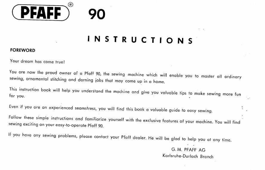 yaya-online > Pfaff Sewing Machine 90 Instruction Manual Download